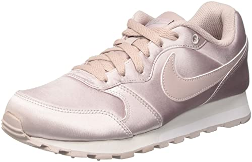 release date aab22 b07cc NIKE Women s MD Runner 2 Low-Top Sneakers, Pink Particle Rose-Metallic  Silver