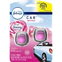 Febreze Car Air Freshener Vent Clips, Downy April Fresh Scent, 2 Count