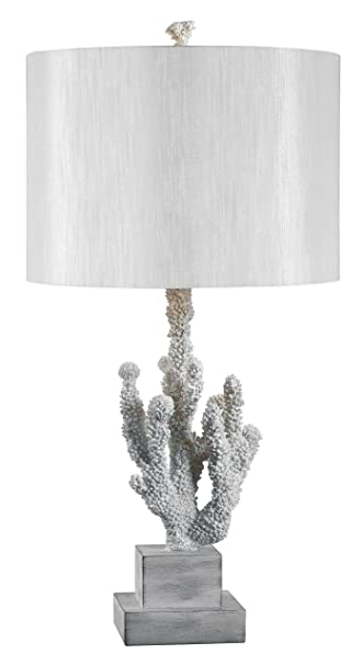 Delightful Kenroy Home 32166WH Coral Table Lamp, 14u0026quot; X 14u0026quot; ...