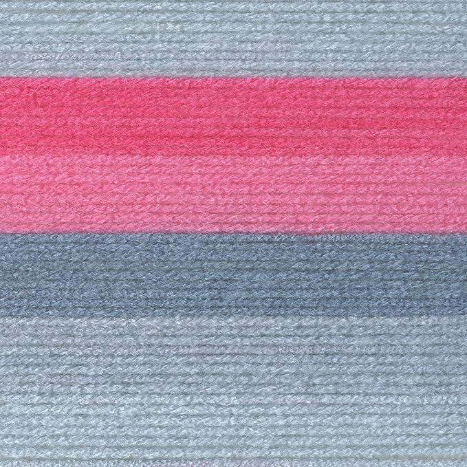 Lion Brand Yarn 502-611 Just My Stripe Yarn Bubblegum