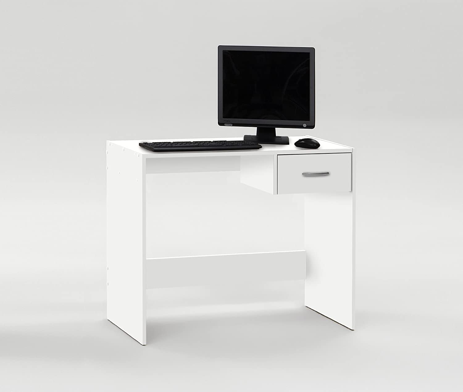 PAUL White Finish Office Computer Desk Workstation Study Table Amazoncouk Kitchen Home