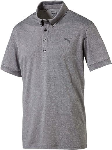 PUMA Tailored Oxford Heather Polo Camisa de Polo Hombre