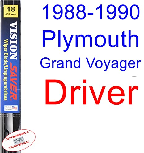 Amazon.com: 1988-1990 Plymouth Grand Voyager Wiper Blade (Driver) (Saver Automotive Products-Vision Saver) (1989): Automotive