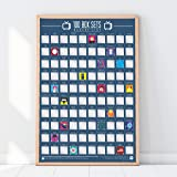 100 Box Sets Póster para rascar de la lista del cubo
