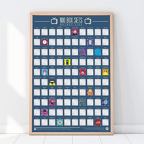 Amazon com: 100 TV Series - Scratch Off Bucket List Poster