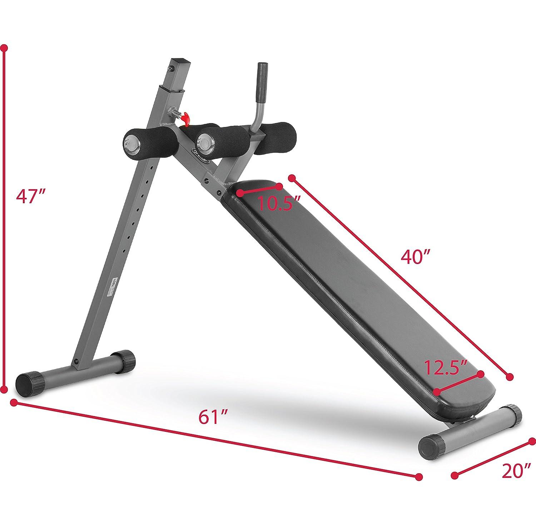 XMark 12 Position Ergonomic Adjustable Decline Ab Bench XM-4416.1