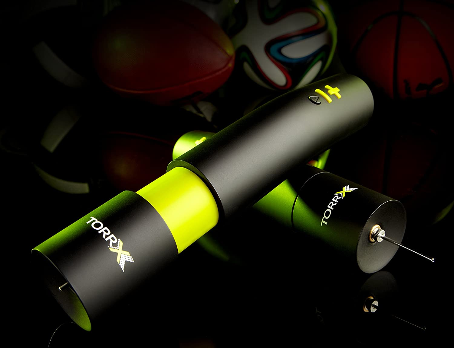 Electric TorrX Smart Ball Pump Soccer, Football, Volleyball, Basketball, Rugby, Water Polo, Handball, etc. Hand held Pump to inflate and Deflate Sports Balls Inc. Automatic