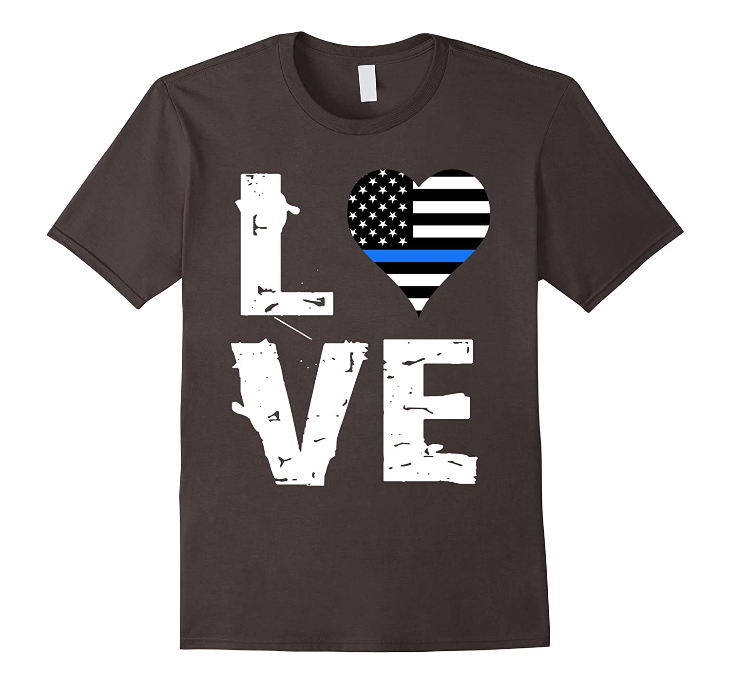 Love Thin Blue Line Shirt Support of Police Law Enforcement-ah my shirt one gift
