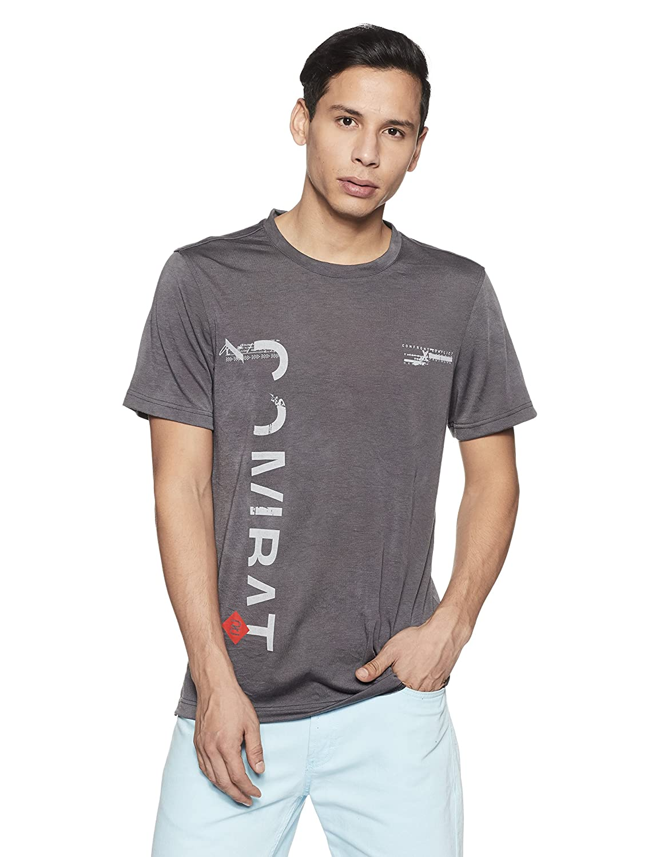 Reebok Combat Spraydye tee Camiseta, Hombre, Negro, L BVJ74