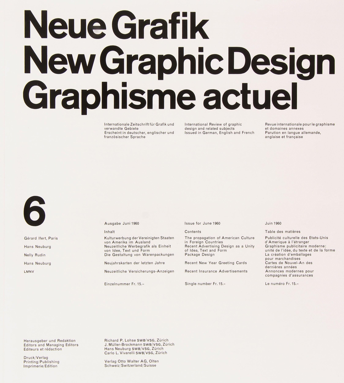Neue Grafik: New Graphic Design: Graphisme Actuel: 1958-1965: Lars ...
