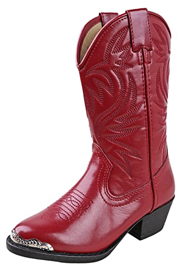 bf7dd1d6a43 Smoky Children's Kid's Red Western Cowboy Boot