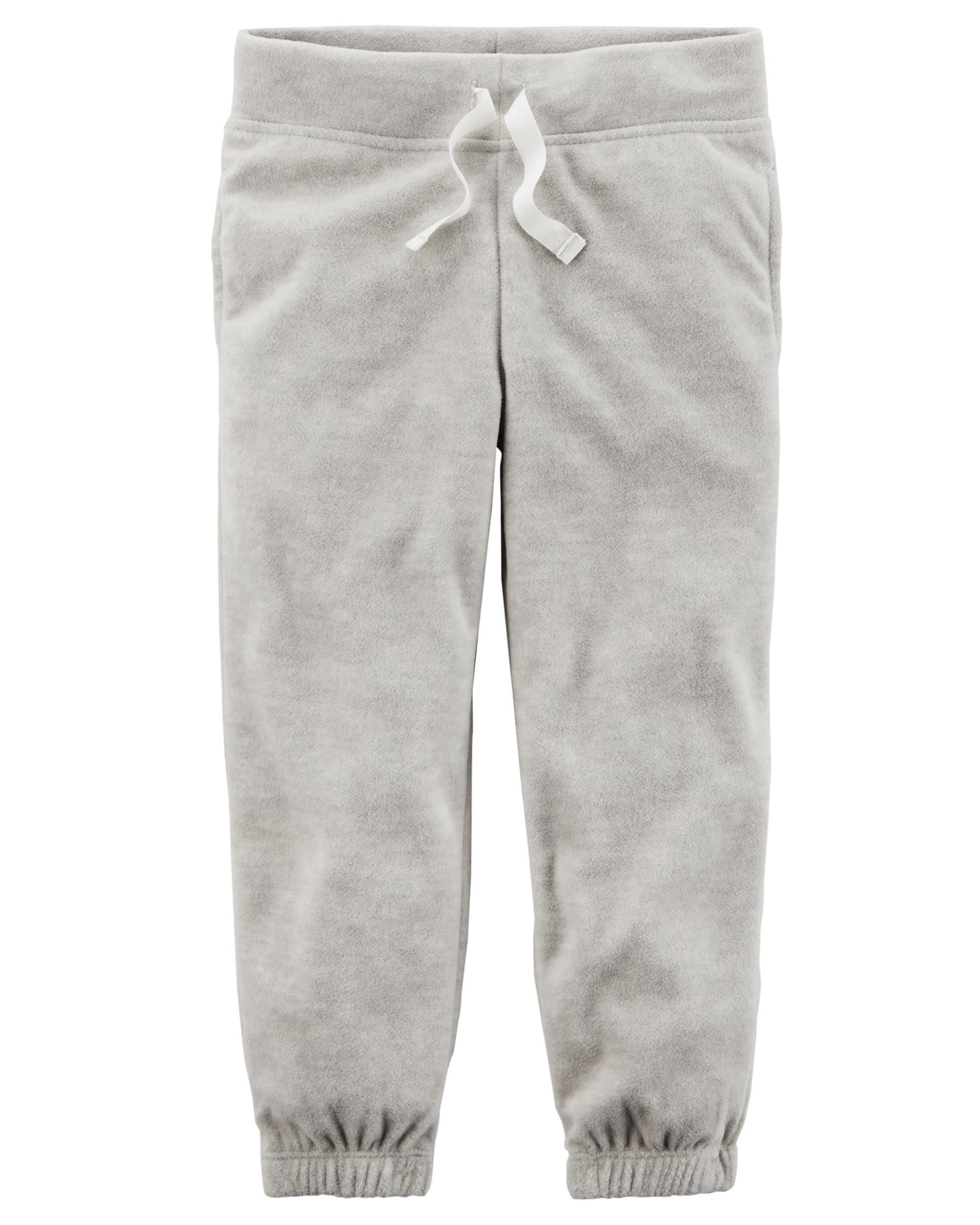 Carters Girls Pull-On Grey Fleece Joggers (3M)