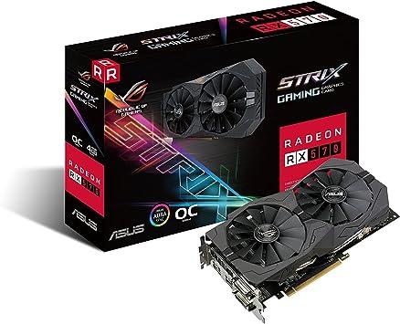 Asus ROG Strix Radeon Rx 570 O4G Gaming OC Edition GDDR5 DP HDMI DVI VR Ready AMD Graphics Card (ROG-STRIX-RX570-O4G-GAMING)