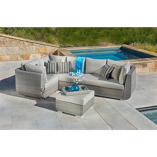 Sirio Urban Grey 4 Piece Patio Furniture Set   Sectional