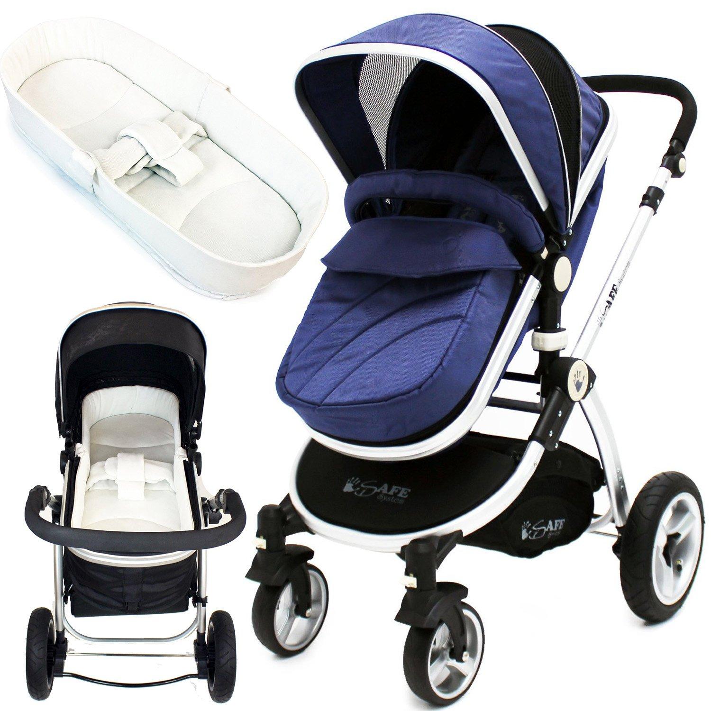 iSafe sistema para cochecito de bebé 2 en 1 - Azul marino + iSafe ...
