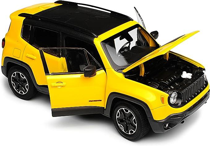 Welly Jeep Renegade Suv Gelb Ab 2014 1 24 Modell Auto Mit Individiuellem Wunschkennzeichen Spielzeug