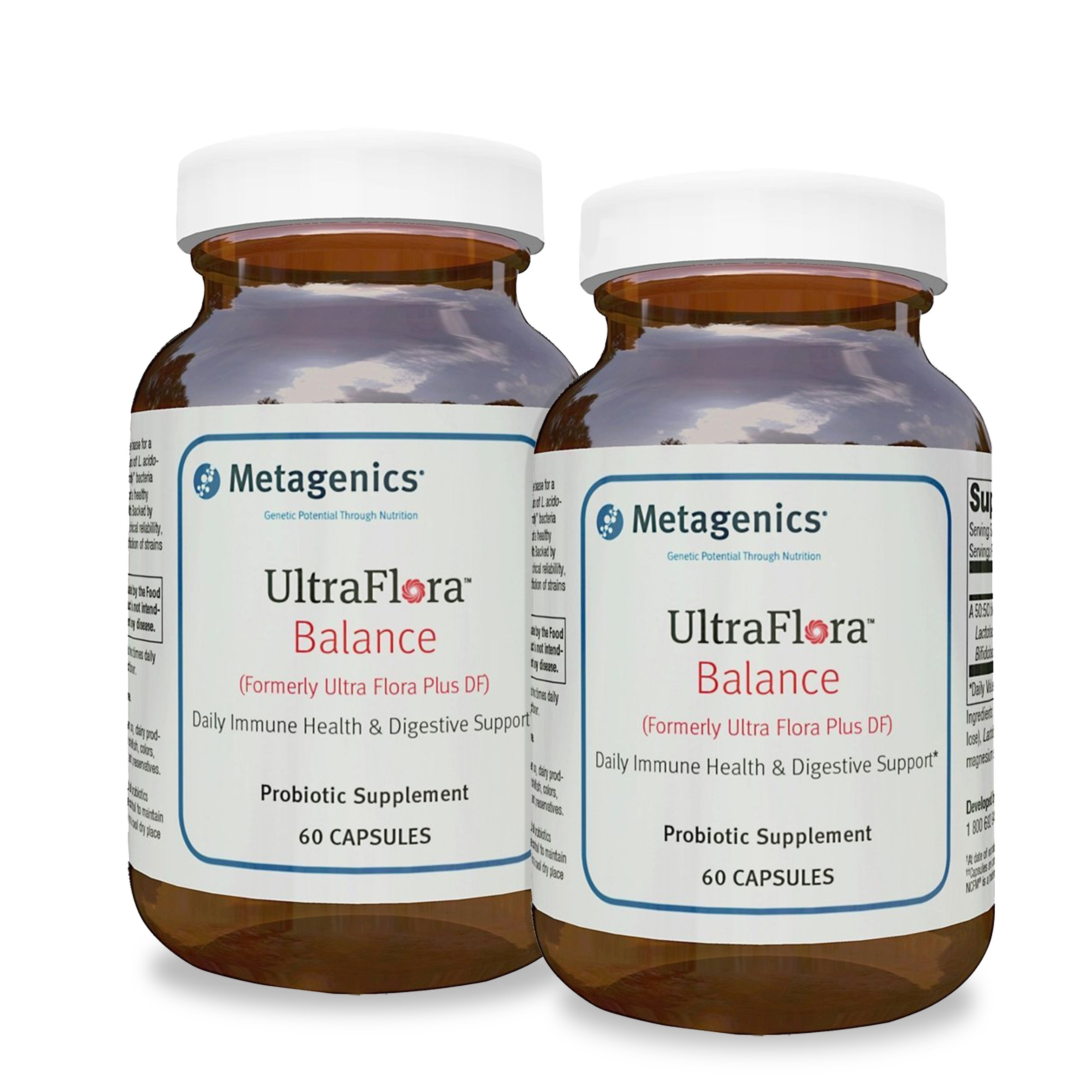 UltraFlora Balance (Formerly Ultra Flora DF) - Probiotic Supplement, 2 Pack, 60 Capsules Each Bottle