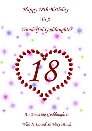 Goddaughter 18 Birthday Card Amazon Office Products
