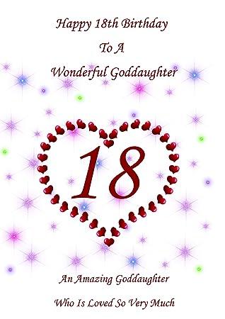 Goddaughter 18 Birthday Card