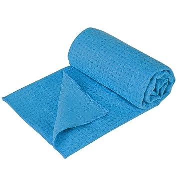 Ultrasport Toalla de Yoga Antideslizante - Toalla de Pilates de Microfibra - Toalla de Microfibra Grande con Perlas de Silicona de 180 x 60 cm, ...