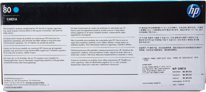 HP DesignJet - Cabezal de tinta, cian: Hp: Amazon.es: Oficina y ...