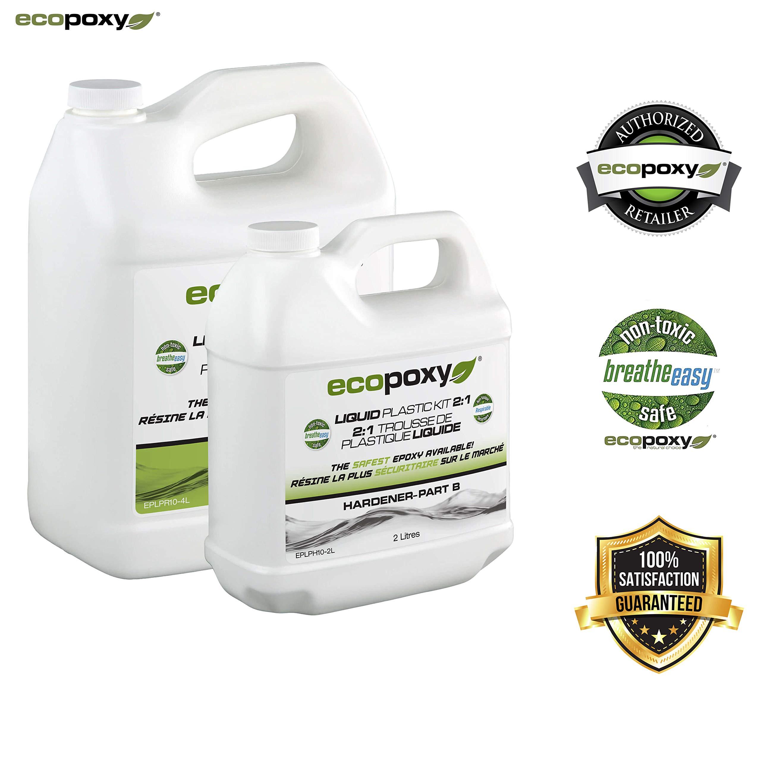 Ecopoxy | Epoxy Resin | Liquid Plastic 2:1 Ratio (6L (1.5 gal) kit)