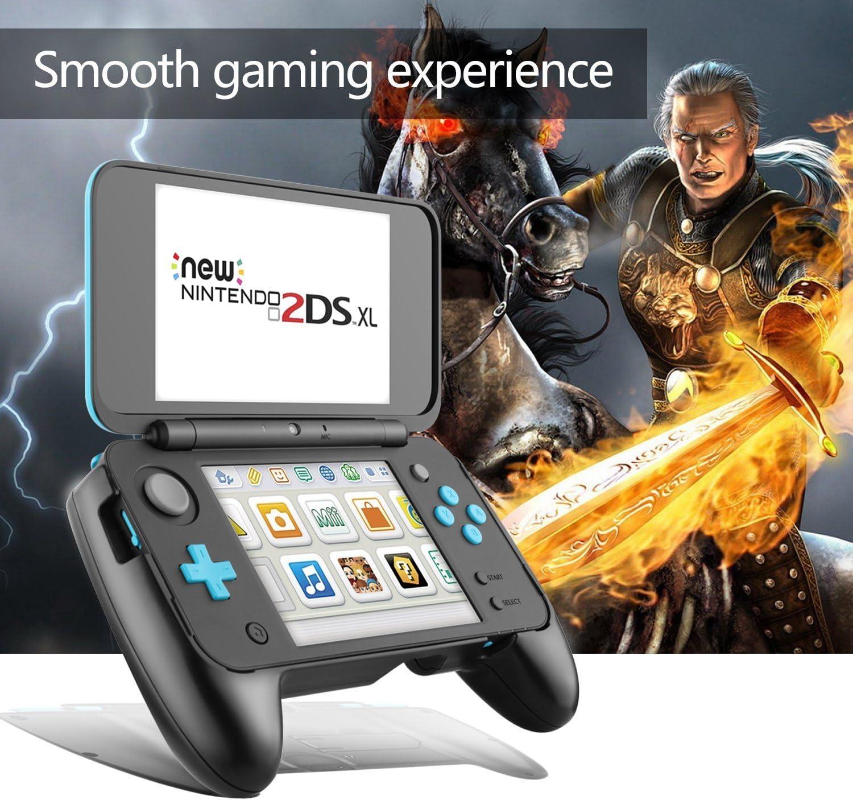 Grip para Nintendo New 2DS XL – LeSB Mango Antideslizante con Soporte para New Nintendo 2DS XL 2017 (Negro): Amazon.es: Electrónica