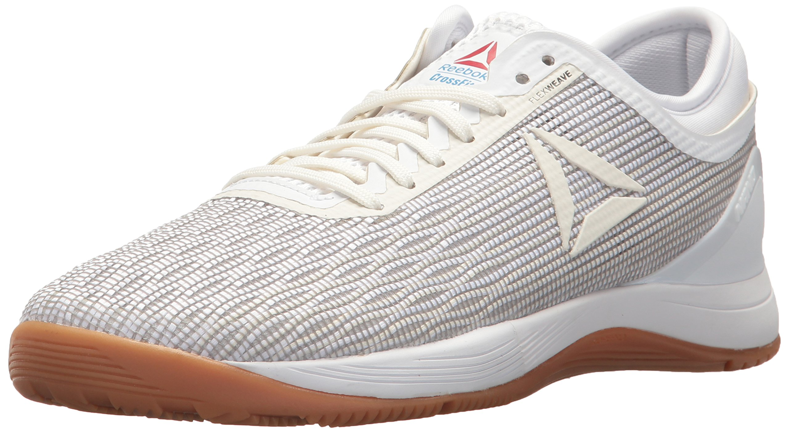 Reebok Women's CROSSFIT Nano 8.0 Flexweave Cross Trainer, White/Classic White/Excel, 7 M US