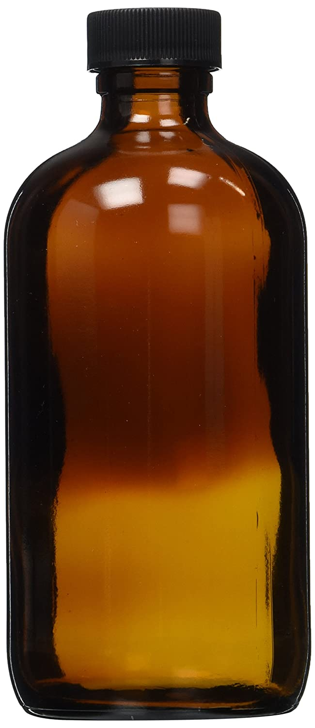 8 oz Amber Glass bottle With Phenolic Lid WFMed