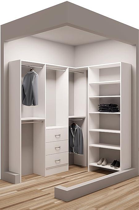 Attirant Tidy Squares Demure Design 75u0026quot;W   59.5u0026quot;W Closet System