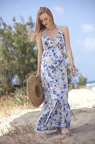 fdc9276794 Image Unavailable. Image not available for. Color: Woman's White Floral  Maxi Dress ...