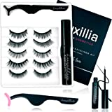 Luxillia by Amazon Magnetic Lashes with Eyeliner, Most Natural Looking Magnetic Eyelashes Kit with Applicator, Best 8D and 3D