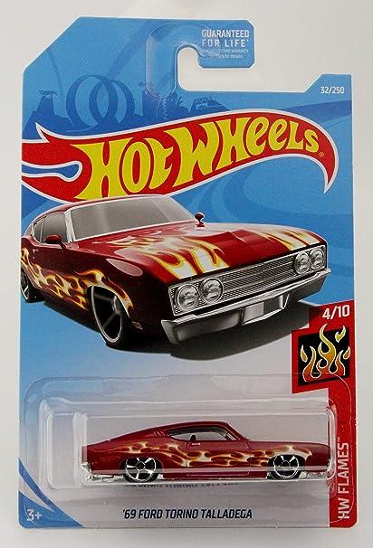 Hot Wheels 69 Ford Torino Talladega HW Flames 4//10 1:64 32//250 2019 Mattel