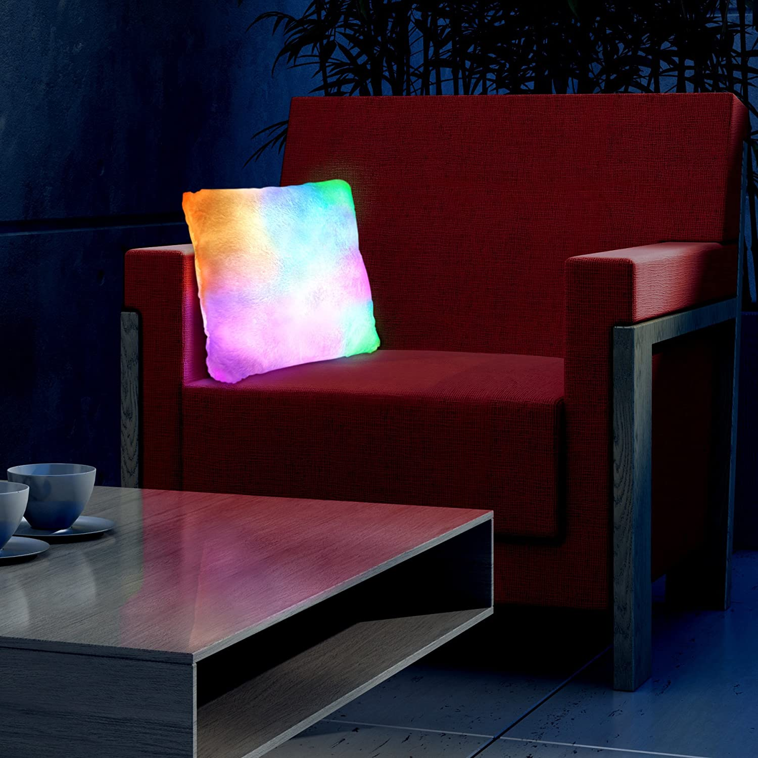 Amazon.com : Light Up Pillow With Slow Color Changing LED : Patio, Lawn U0026  Garden