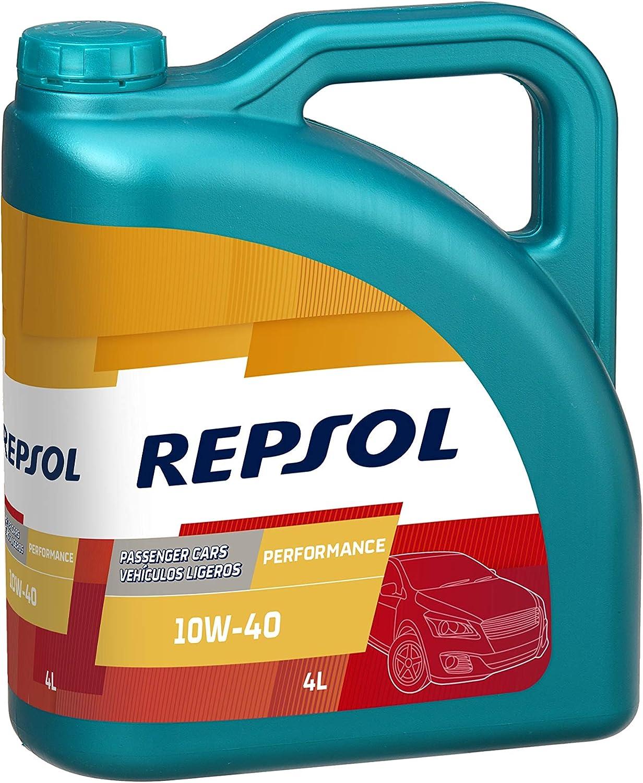 Repsol RP053X54 Performance 10W-40 Aceite de Motor para Coche, Transparente/Dorado, 4 L