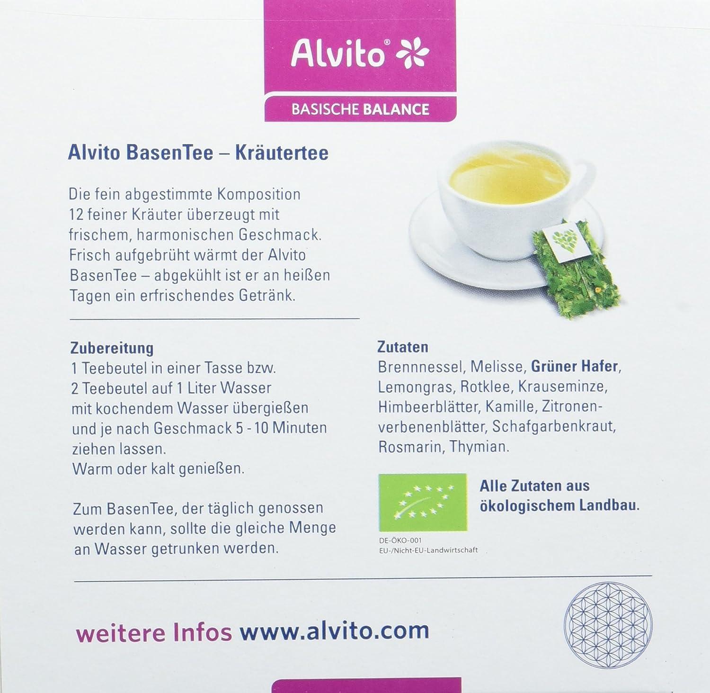 Alvito Basischer Kräutertee Beutel 40St.: Amazon.de: Drogerie ...