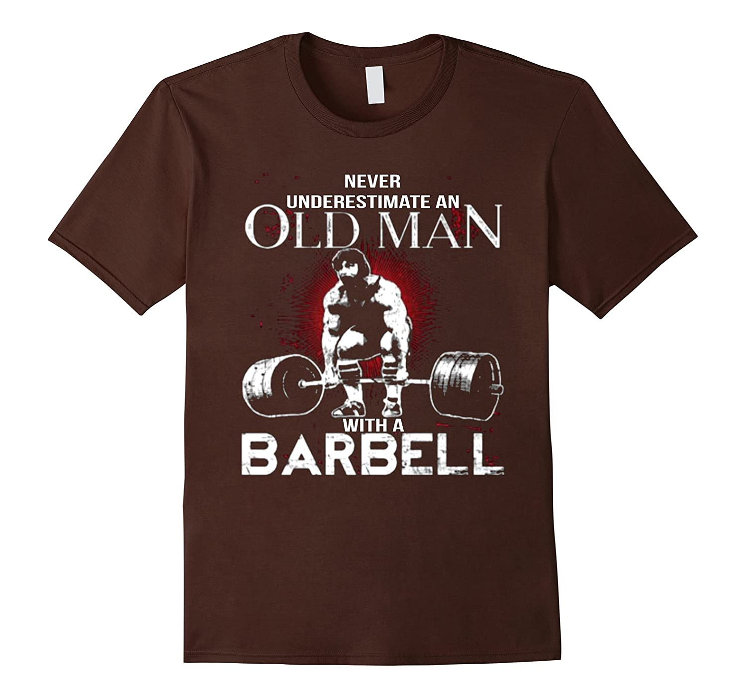 Weider 2980 Home Gym With 214 Lbs Of Resistance: Never Underestimate An Old Man With A Barbell T Shirt-BN