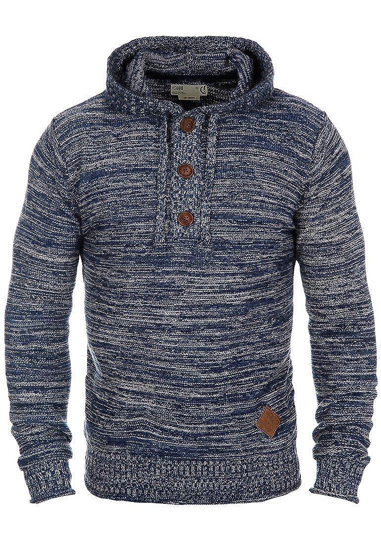 !Solid Melker Jersey De Punto Suéter Sudadera Para HombreCon Capucha De 100% algodón