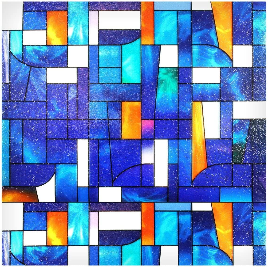 BDF 3ABST Window Film 3ABSTract Stained Glass 36in X 65feet, 30 Patterns