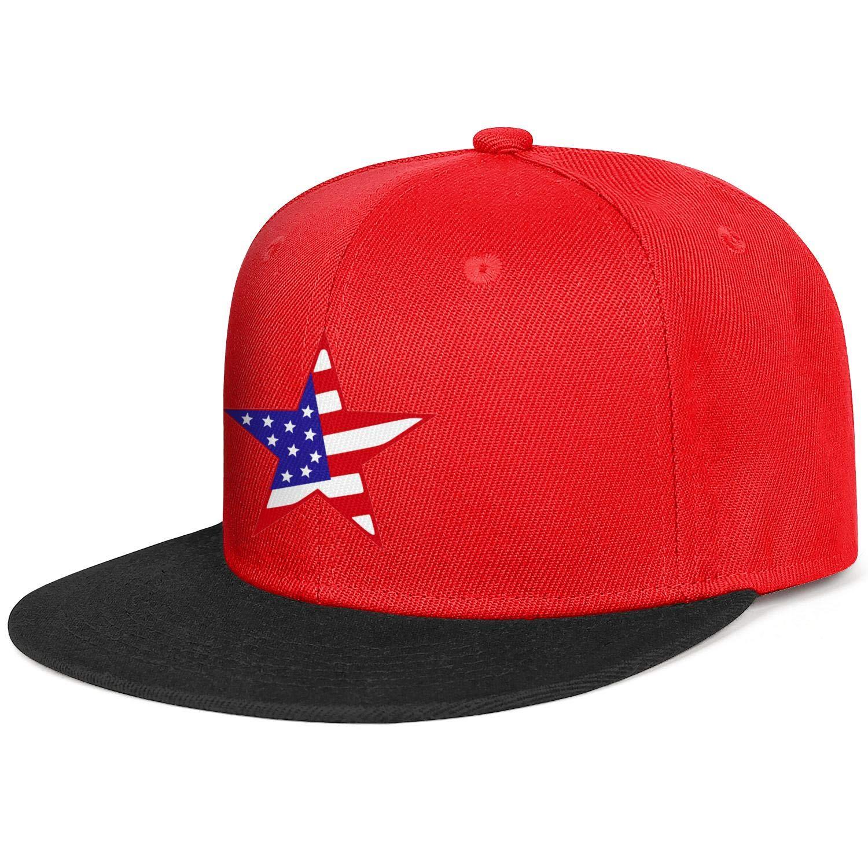 Unisex Mesh Snapback Cap United States Flag American Flag Flat Hip Hop Baseball Hat