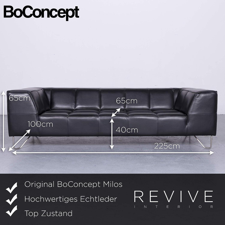 Bo Concept Milos Designer Leder Sofa Schwarz Echtleder ...