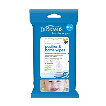Dr. Browns Pacifier and Bottle Wipes, 40 Count