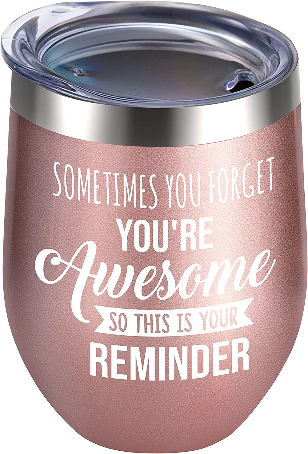 Alexanta Inspirational Gifts for Women - Congratulations Gifts for Women, Employee Appreciation Gifts, Encouragement Gifts for Women, Boss Gifts – Sometimes You Forget You're Awesome Wine Tumbler