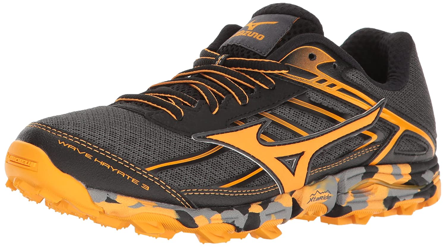 Mizuno Women's Wave Hayate 3 Trail Runner B01H3EGT0K 10 B(M) US|Dark Shadow/Tangerine Tango