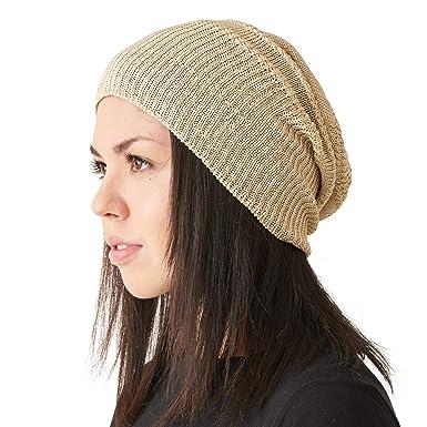 9d9b0623 CHARM Silk Slouchy Beanie Womens - Mens Slouch Hat for Summer Chemo Cap  100% Silk