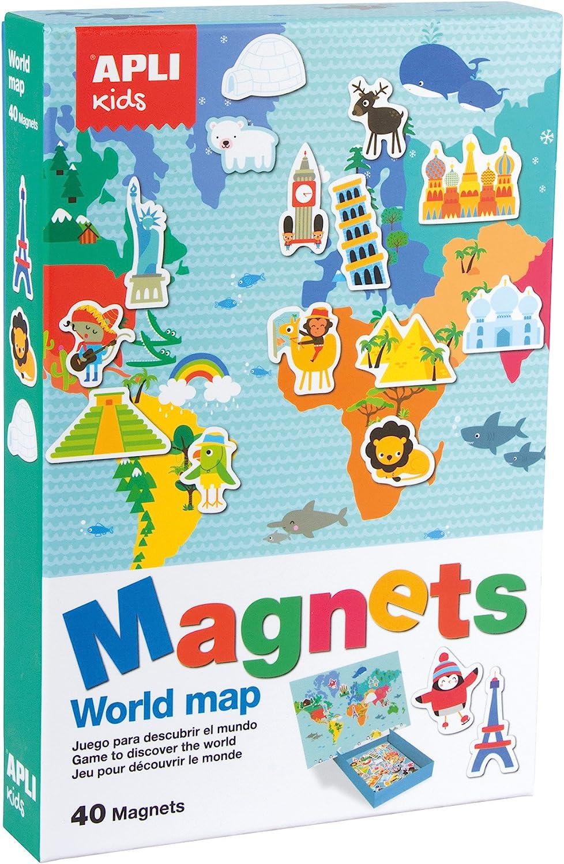 APLI Kids - Juego magnético mapamundi: Amazon.es: Juguetes y juegos