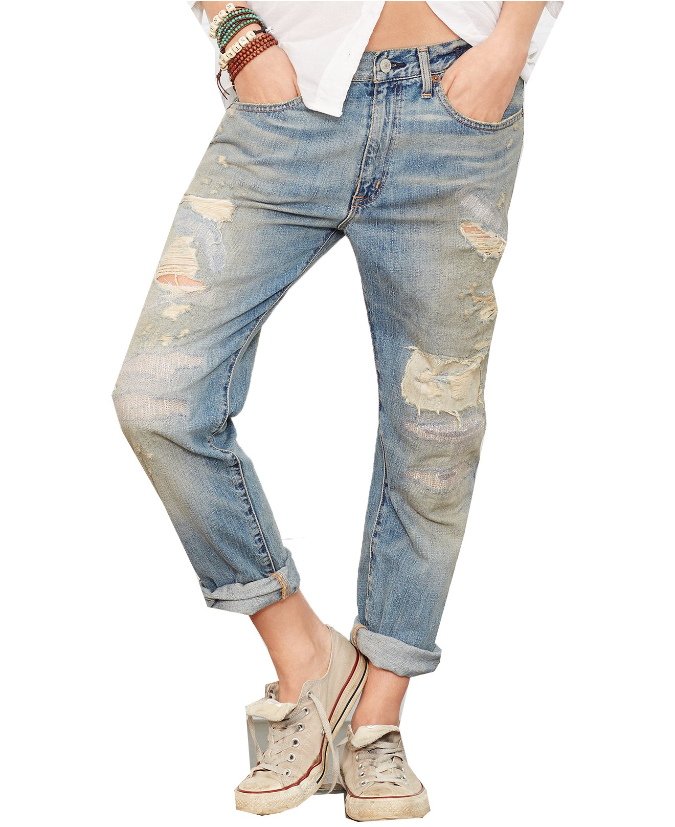 Denim & Supply Ralph Lauren Artisan Boyfriend Jeans (29, Laurel Wash)