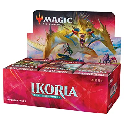 Magic: The Gathering Ikoria: Lair of Behemoths Draft Booster Box | 36 Draft Booster Packs (540 Cards + Box Topper) | Factory Sealed: Toys & Games