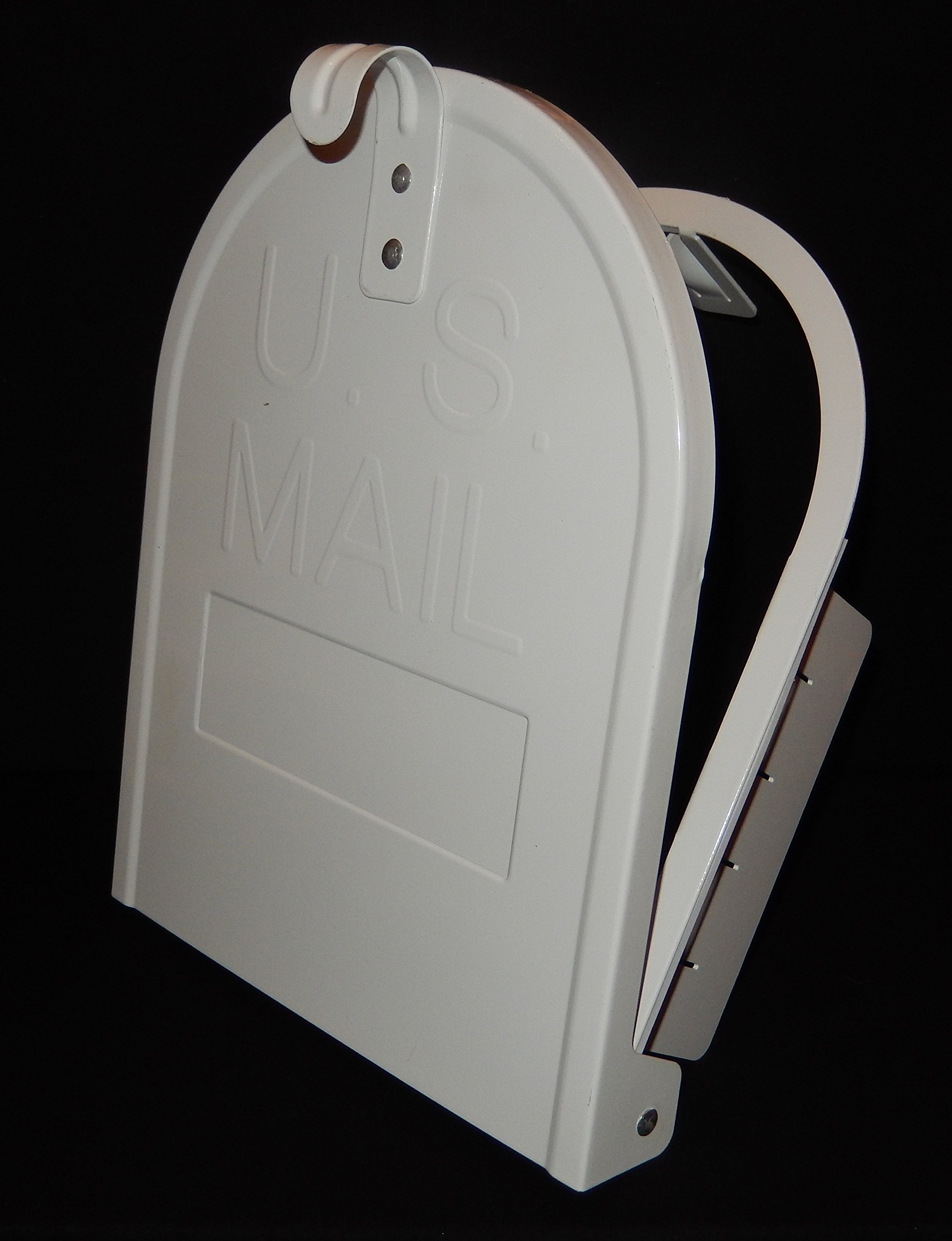 8 Inch (Width) by 10 Inch (Height) RetroFit Snap-In Mailbox Door Replacement  White