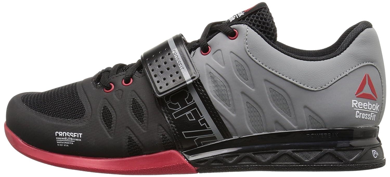 ed7dd9ffd6098 Zapatillas de entrenamiento Reebok Crossfit Lifter 2.0 para hombre Negro    Gris plano   Excelente rojo